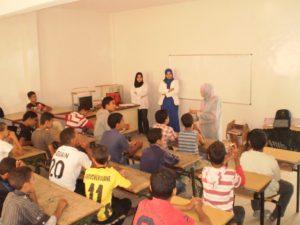 Schulunterricht im Zentrum (hier: Nachhilfe-Unterricht)